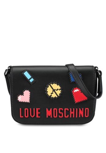 Love Moschino black Borsa Soft Nappa Sling Bag LO478AC0SEJ6MY_1