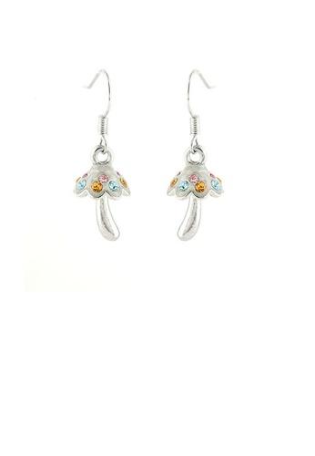 Glamorousky multi Cutie Mushroom Earrings with Multi Color Austrian Element Crystals 09908AC3B98945GS_1