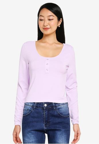 ONLY purple Penelope Top FE885AAA84EEA8GS_1
