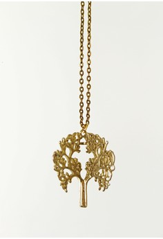 WLN012 Women's Necklace Dipped Tree Pendant