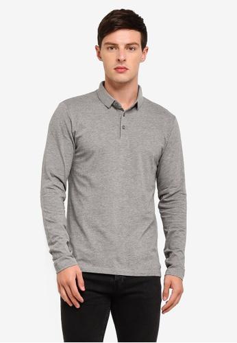 ESPRIT 灰色 Long Sleeve Polo Shirt 575E8AA301462FGS_1