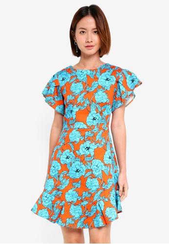 b2ac5235fe014 Buy CLOSET Frill Sleeve   Hem Dress Online on ZALORA Singapore