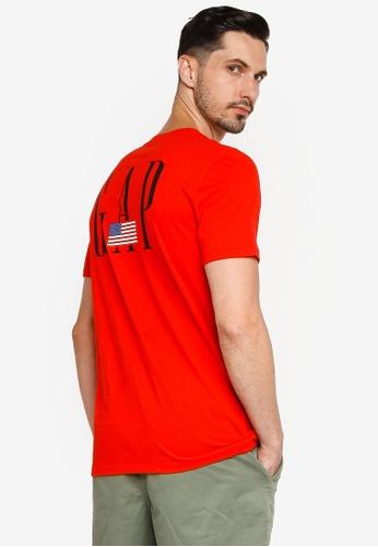 GAP red Logo Flag Tee DC0A5AA51285F5GS_1