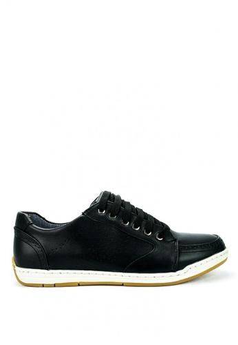 Cardam's Lifestyle black Cardam's Racer Lace-Up Sneakers 32BDCSH4373C1CGS_1