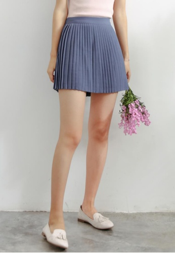 Shopsfashion blue Mini Pleated Skirt in Blue SH656AA75WWYSG_1