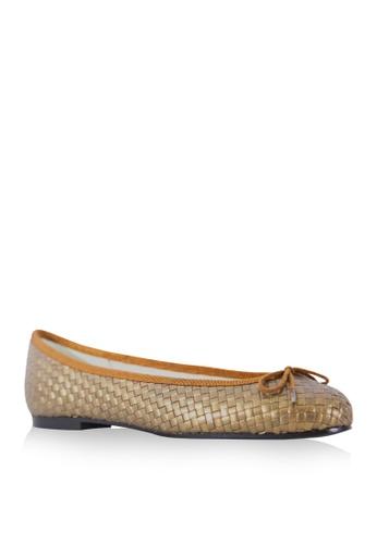 Covet brown French Sole Henrietta Ballet Flats CO331SH29DZUPH_1