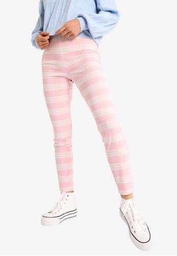 PIMKIE pink High Waist Leggings E771FAA3A0FD68GS_1