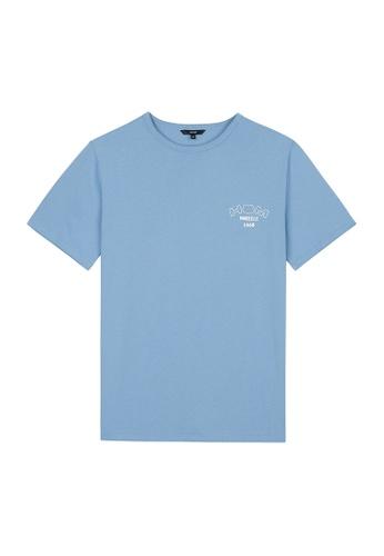 HOM blue Victor T-Shirt Crew Neck - Blue Heaven B383DAA202D775GS_1