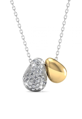 Her Jewellery white Her Jewellery Lucky Bean Pendant with Necklace Chain with 18K Gold Plated E7F29AC7437A54GS_1