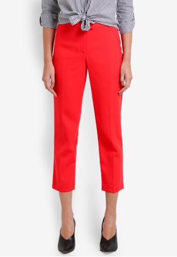 Miss Selfridge red Petite Cigarette Trousers MI665AA0RXA9MY_1