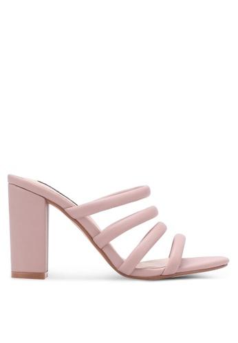 ZALORA pink Multi Tubular Strap Heels 688A3SH8121A2BGS_1