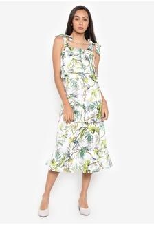 24a75a6c047 Tie Ribbon Strap Printed Layered Dress 36D0EAA8981694GS 1