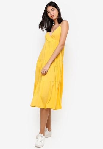 ZALORA yellow Layered Dress BB92AAA7E9621CGS_1