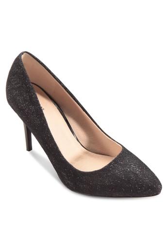 Emily 閃面尖頭細跟高跟鞋,esprit鞋子 女鞋, 鞋