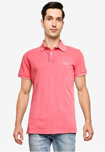 Superdry pink Vintage Destroy S/S Polo 57EF1AA9D8B4B3GS_1