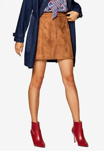 ESPRIT brown Woven Mini Skirt 439D6AA8542B2AGS_1