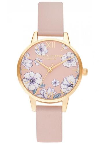 Olivia Burton pink Olivia Burton Groovy Blooms CANDY PINK Women's Watch (OB16AN04) FA97AAC8DA5ED2GS_1
