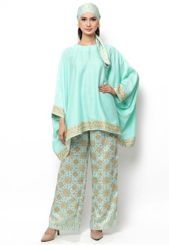 Kanzi by liza yahya green Kanzi Exclusive Tunik Set With Pants FC2F1AA876914EGS_1