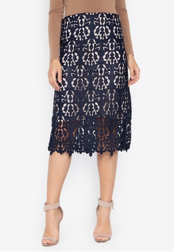 Susto The Label navy Aria Floral Crochet Skirt 0D5F7AAED712E0GS_1