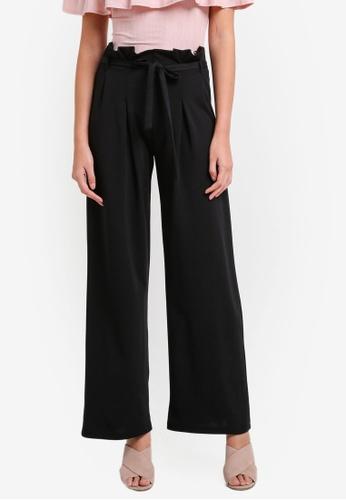 Miss Selfridge black Black Paper Bag Wide Leg Trousers MI665AA0RXACMY_1