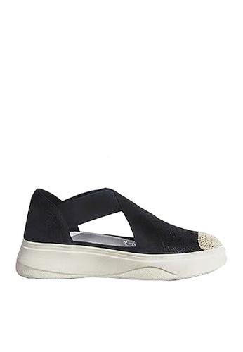 Twenty Eight Shoes black Elastic Band and Mesh Platform Shoes VC887 680DASH8CF2391GS_1