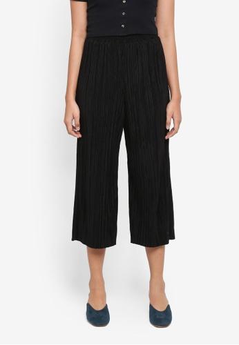 TOPSHOP black Petite Plisse Trousers C29B8AA09CFAB2GS_1