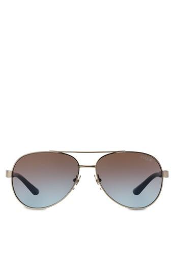 雕花飛行員太陽眼鏡, 飾品配件, zalora taiwan 時尚購物網3D Braid