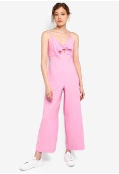 749f3e1442a Miss Selfridge Petite Pink Tie Front Jumpsuit RM 269.00. Sizes 4 6 8 10 12