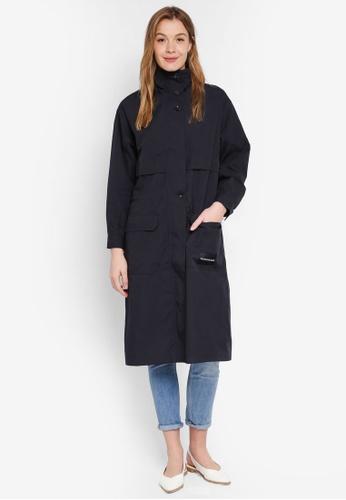 Calvin Klein black A-Long Ctn Nylon Jacket - Calvin Klein Jeans CA821AAB3AC667GS_1