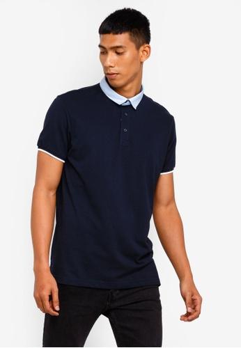 Brave Soul 海軍藍色 Pique Polo Shirt E9A51AAB528282GS_1