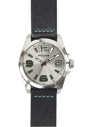 Police black and green and silver Police Men's Watch PL14761JS/61 7CEDDAC0D5996FGS_1