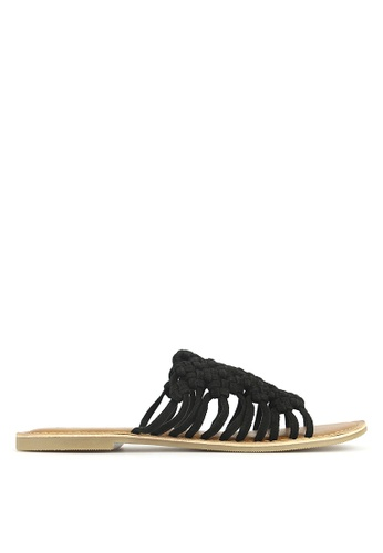 Betts black Tarlee Woven Leather Sandals 3DC1ESH335F099GS_1