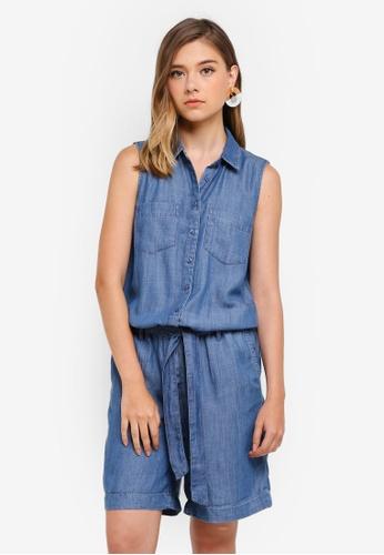 ESPRIT blue Denim Short Overall 506F5AA0425FAFGS_1