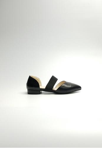 Lara 黑色 女裝低跟鞋 BB51FSH4EFCA83GS_1