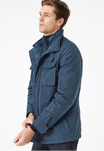 MARKS & SPENCER blue Padded Jacket with Stormwear 2465FAA9604B79GS_1