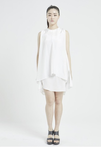 NINETEENEIGHTY white Dressy Flare One-piece NI195AA98XCRSG_1