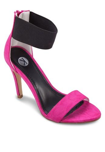 彈esprit outlet 台灣性踝帶拉鍊高跟涼鞋, 女鞋, 鞋