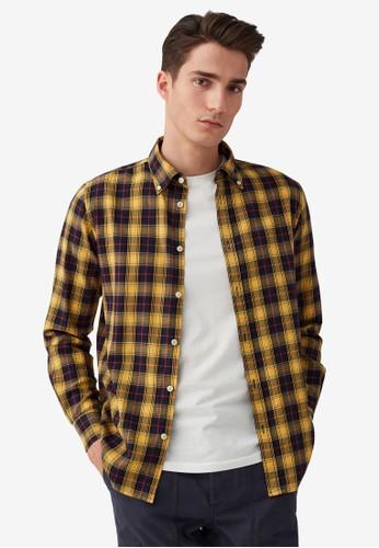 OVS yellow Regular-Fit Flannel Shirt 93F24AAC05B4DEGS_1