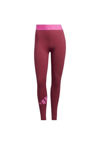 ADIDAS pink adidas Techfit Life Mid-Rise Badge of Sport Long Tights 71E75AAB878477GS_1