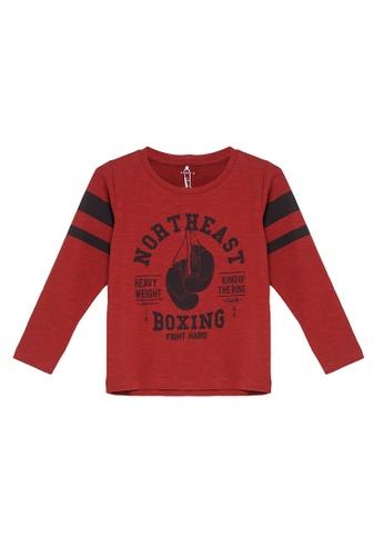 NAME IT red Noel Long Sleeves Tee 73B72KABDD0D70GS_1