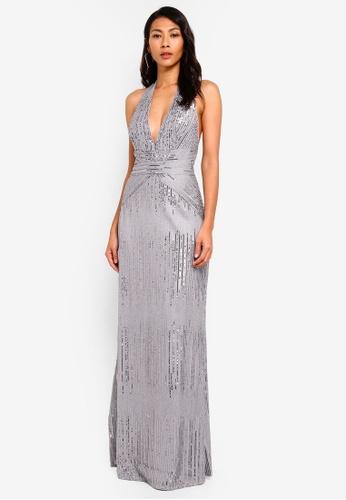 TFNC silver Satya Maxi Dress E8AD9AA125B3D7GS_1