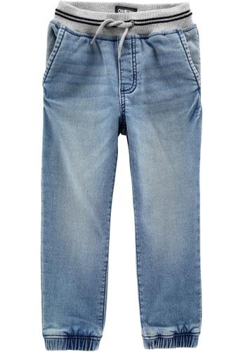 Oshkosh B'gosh blue OSH KOSH Boy Knit Denim Jogger Pants AE2EBKAC713A16GS_1