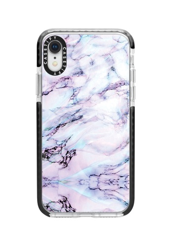 Casetify black and multi Marble Swirl Impact Protective Case For iPhone XR - Black A5ACCAC7CAD921GS_1