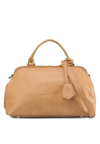 暗紋拉鍊托特肩背包, 包,esprit 品質 購物包
