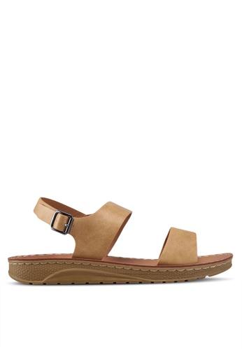 Noveni 米褐色 休閒涼鞋 6D2BASHE49B058GS_1
