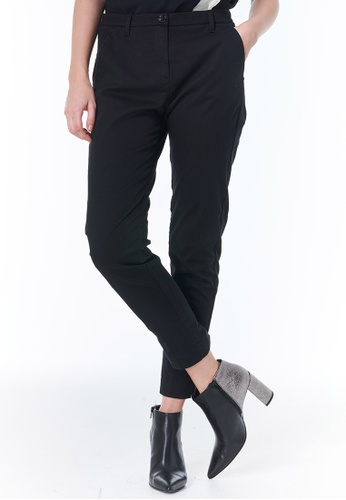 Sisley black Slim Fit Chinos 37C1AAA276C38DGS_1