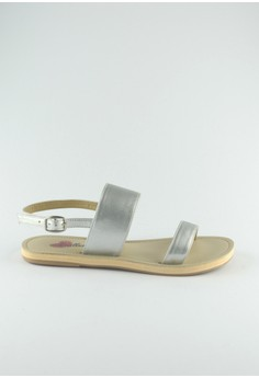 ZC Ceres All Two Part White Leather Sandals
