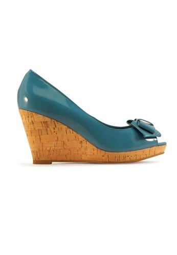 Gripz blue Mindy Peep Toe Patent Corkwedge GR357SH0GUAXSG_1