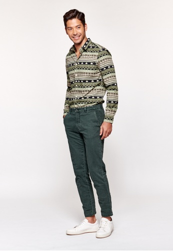 United Colors of Benetton green Cropped Slim Fit Chinos 832EFAA3FFC233GS_1