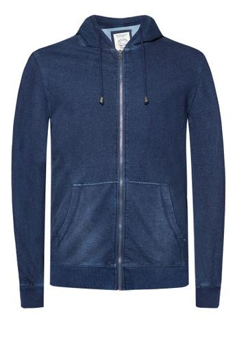 Universal Traveller blue Universal Traveller Denim Colored Hoody Jacket FJ 5066 UN858AA33JFMMY_1